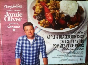 Jamie Oliver's Apple Berry Crisp contains over 5 tsp of sugar in a teensy tiny 100 g serving (i.e. 1/10th of this box)