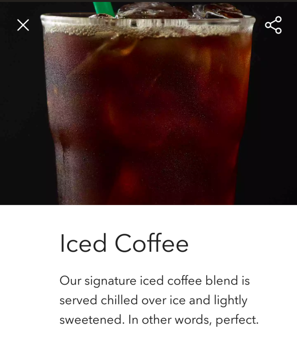 Starbucks iced coffee is heavy on the syrup and light on the truth