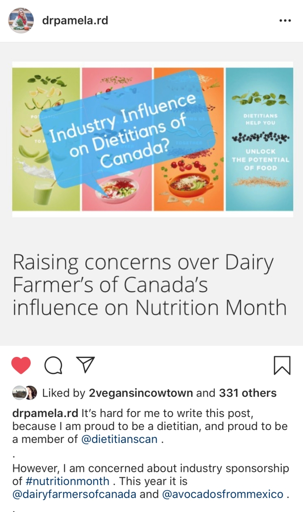 Is it #NutritionMonth2019 or #DairyFarmersofCanadaMonth and #AvocadosofMexicoMonth?